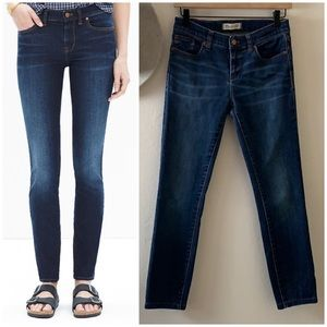 """madewell • 8"""" skinny jeans in lakeshore wash"""